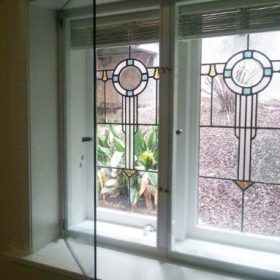 Euro Double Glazing inside heritage glass