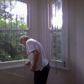 Installing sound proofing double glazing in a bay window